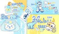 卡通动物印花图案
