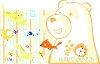 可爱小熊印花图案