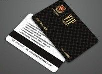 高档黑色VIP会员卡矢量设计