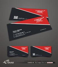 红黑色经典名片设计