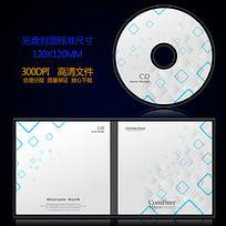 唯美白色简洁时尚光盘封面设计
