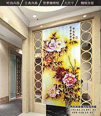 富貴牡丹圖客廳裝飾畫