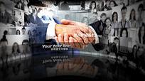 ae企业发展宣传片头模板