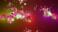 粒子花视频素材