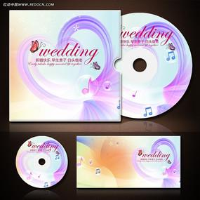 温馨婚礼婚庆CD光盘封套