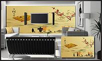 中国风运棋帷幄电视背景墙