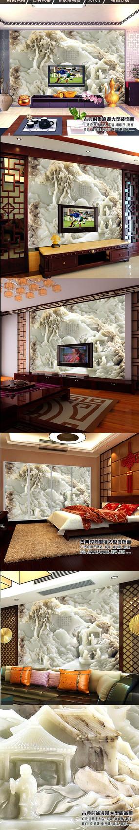 3d立体沙发壁画