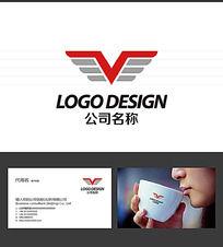 V字母LOGO标志