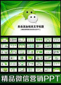 微信微网营销业绩报告动态PPT模板
