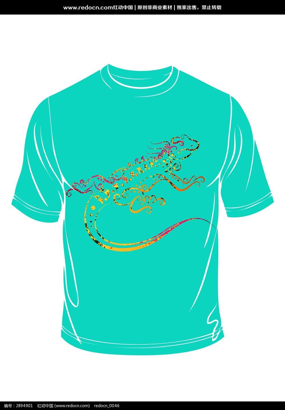 鳄鱼图案t恤印花图片