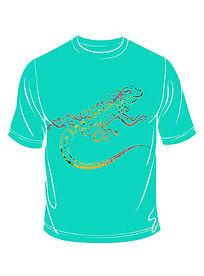 鳄鱼图案t恤印花