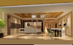 公司大厅3D效果图