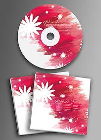 红色时光复古CD光盘设计