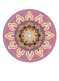 瓷砖圆形图案
