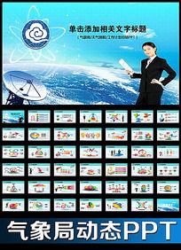 雷达气象局工作报告会议总结动态PPT