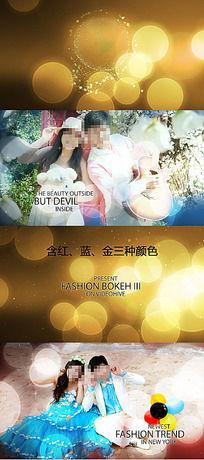 时尚亮斑婚庆写真视频素材
