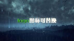 雨天闪电效果logo演绎ae模板