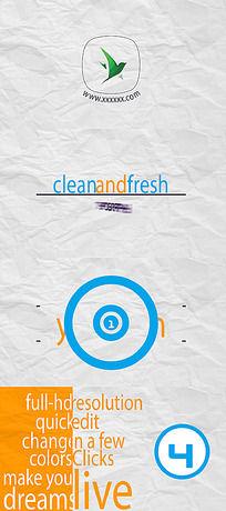 干净流畅的文字排版设计动画