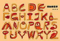嘴的变形英文字体设计