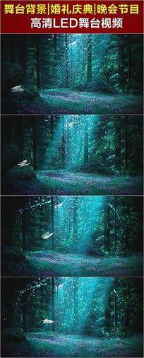 蝴蝶森林飞舞梁祝歌曲LED视频