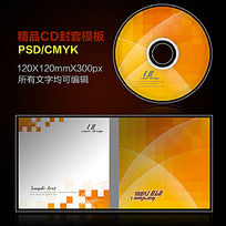 黄色曲线CD封套设计