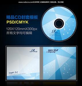 蓝色线条色块CD封套