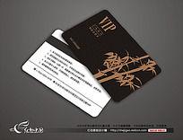 中国风竹子图案VIP卡