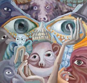 人的眼神表情演绎人物插画