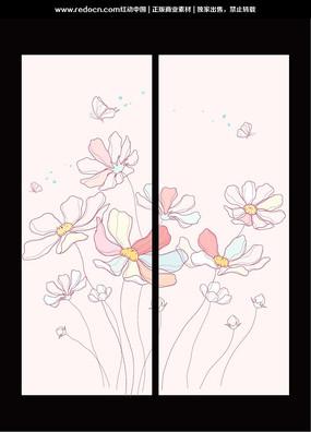 蝶恋花移门图案