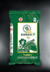 生态有机米大米袋子设计