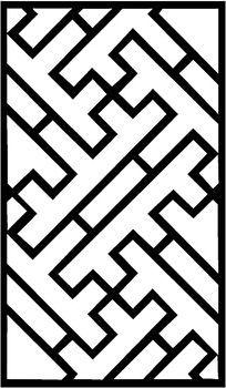 中式万字格雕刻图案