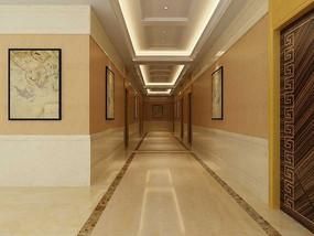 走廊3d模型和效果图