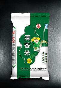 清香米袋子设计