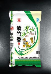 清竹香米大米袋子设计