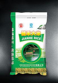 健禾大米包装设计欣赏