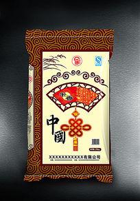 中国米香大米包装袋展开图