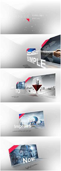 玻璃质感AE企业宣传视频模板