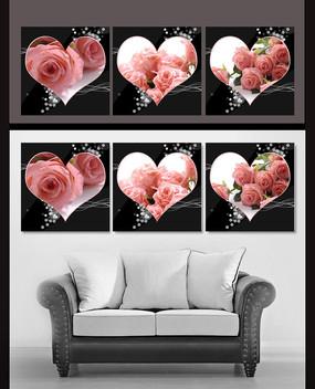 浪漫玫瑰无框画