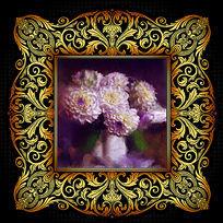油画静物花卉装饰画