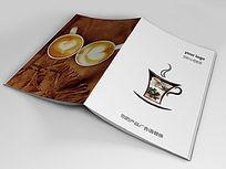 咖啡西餐厅画册封面版式设计indd