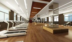 健身房3D效果圖