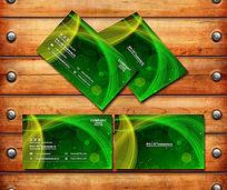 绿色科技线条名片背景