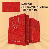 古典花纹手提袋设计PSD