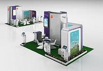 笔记本电脑展台展厅3D模型+贴图