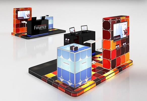 彩炫时尚展台展柜3D模型+材质贴图