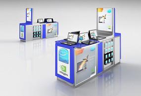 數碼電器展臺展柜3D模型+貼圖