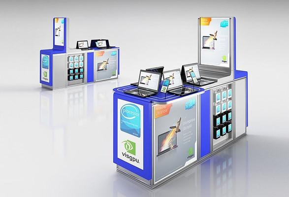 数码电器展台展柜3D模型+贴图