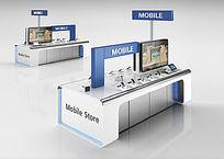 数码电器展台展厅3D模型+贴图
