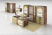 饮料展柜3d模型+贴图
