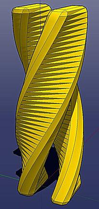 抽象雕塑景观SU模型